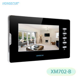 HOMSECUR 7inch Indoor Monitor XM702 B For Video Door Phone Intercom System|Door Phone|Security & Protection -