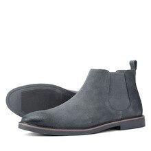 40-46; Мужская обувь; Натуральная кожа; Брендовые удобные 2021 Модные ботильоны # KD535
