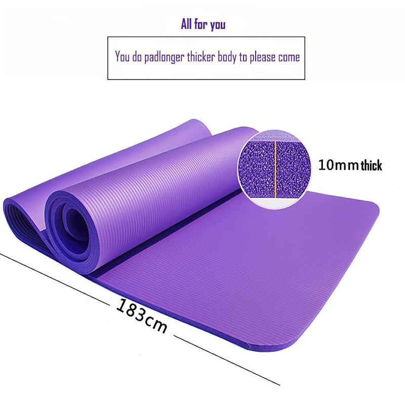 1830*610*10mm NBR Yoga Mat Carpets Towel Mattress Exercise Balance Accupressure Massage Fitness Play Mat Bag Yoga Gym