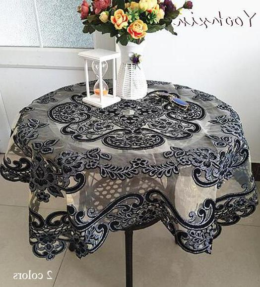 Best Discount D9dd Luxury Glitter Black Square Tablecloth