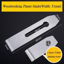 Lames de raboteuse à main, largeur 38, 44, 51mm, 180x44x2.9mm, pour le travail du bois, 183x51x2.9mm, avec couvercle de raboteuse