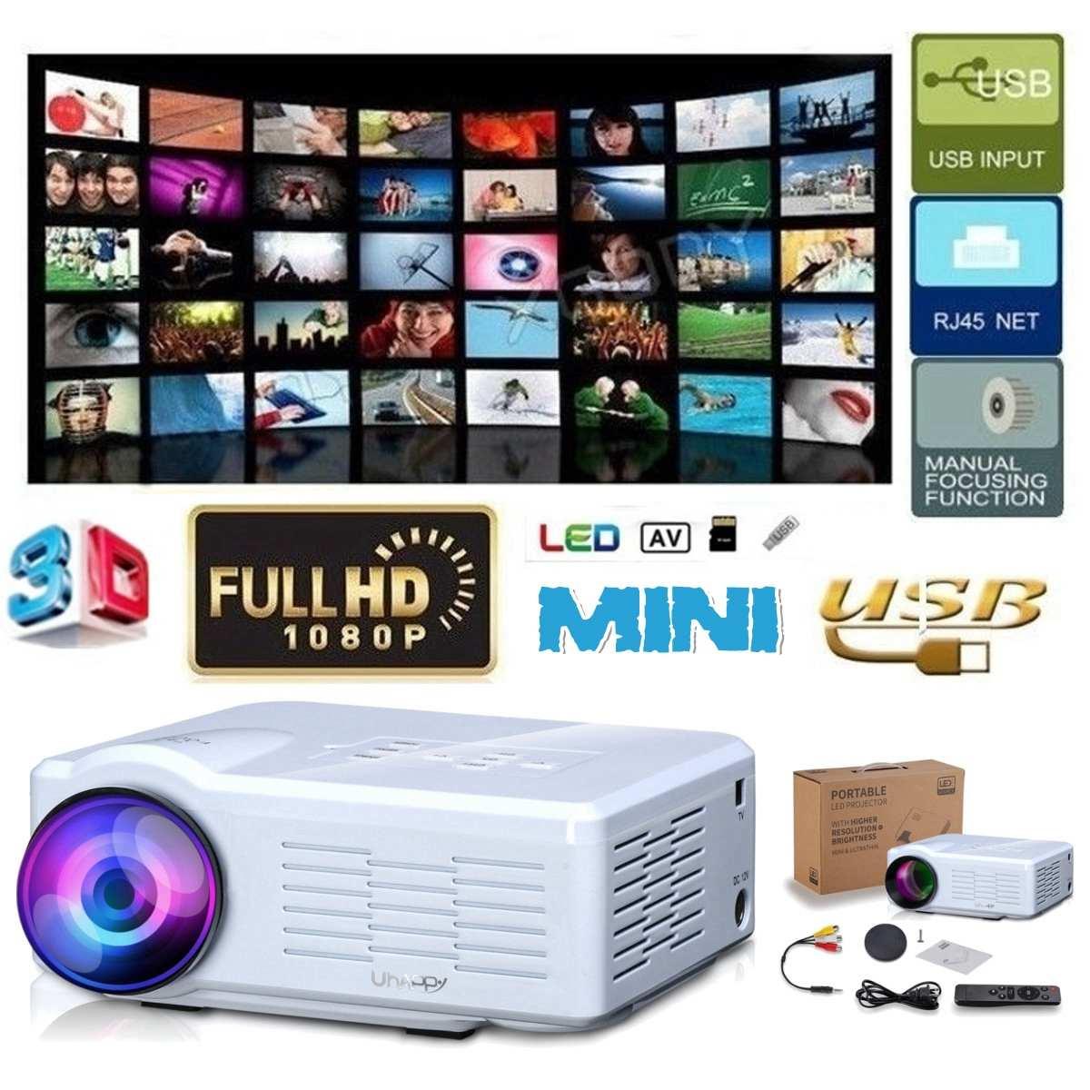 Hd mini projetor nativo 800x480 led wi fi proyector 7000 lumens vídeo cinema em casa 3d hdmi filme jogo proyector