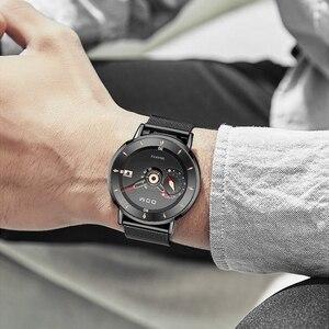 Image 4 - DOM Herren Uhren Zu Luxus Marke Männer Stahl Sport Uhren herren Quarz Schwarz Uhr Wasserdicht Militär Uhr Uhr M 1299BK 1M