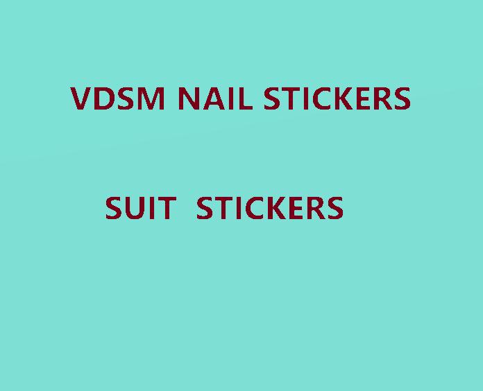 VDSM красочные наклейки для ногтей, Стикеры для ногтей, украшения для творчества