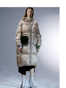 Image 5 - IRINACH45 2020 yeni koleksiyon kalın sıcak kadınlar uzun beyaz ördek aşağı ceket ceket kış