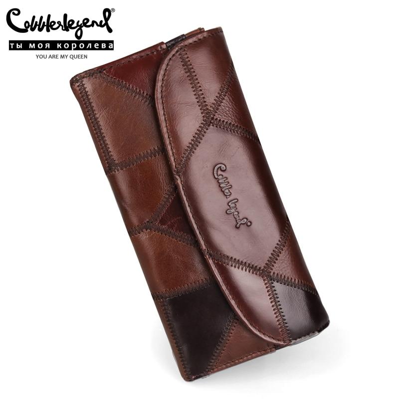Cobbler Legend Genuine Leather Women Fashion Clutch Wallet Female Designer Long Coin Purse For Phone Bag Ladies Card Holder