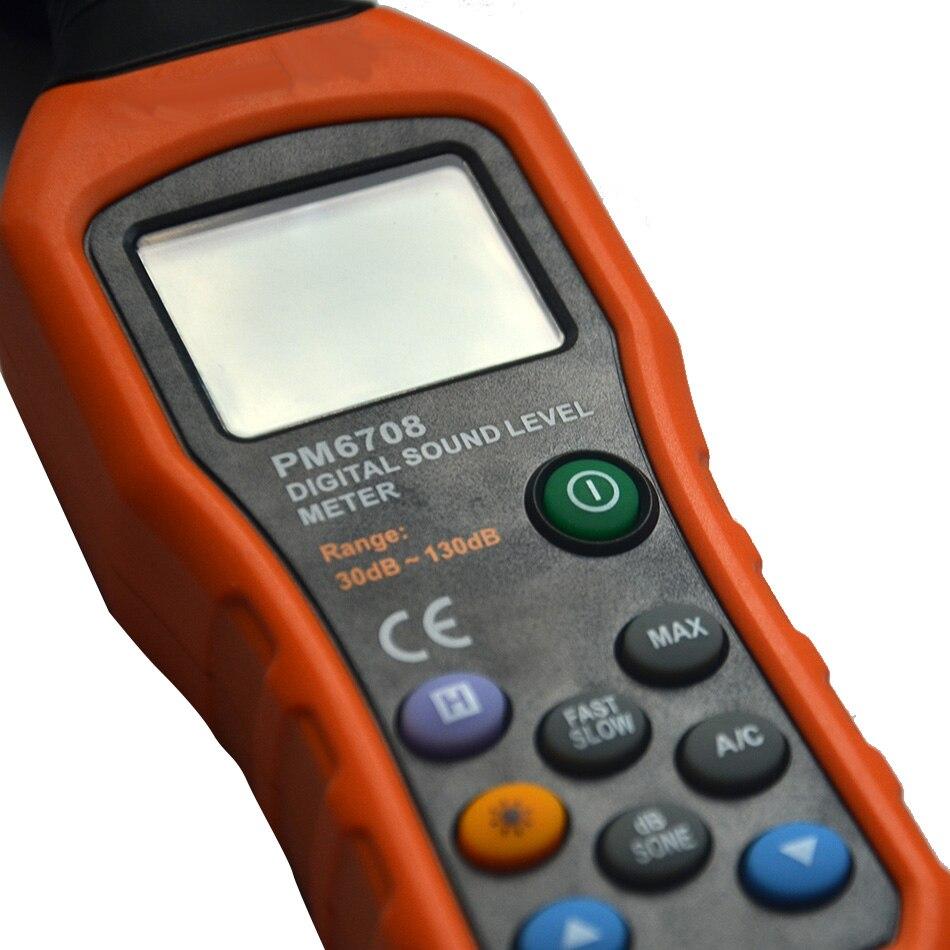 Offre spéciale professionnel numérique sonomètre haute précision moniteur de bruit Portable Portable mesure 30-130 dB Instrument - 5