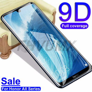 9D Protective Glass on the For Huawei Honor 8X 9X V20 V30 8A 8C Screen Protector For Honor 10 20 Lite 20S 20i Tempered Glas Film(China)