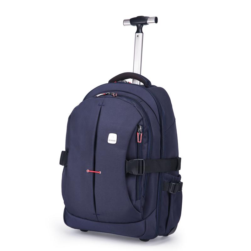Men Oxford Travel Trolley Luggage Bags Waterproof Trolley Bags Women Wheeled Backpacks Business Luggage Suitcase on Wheels