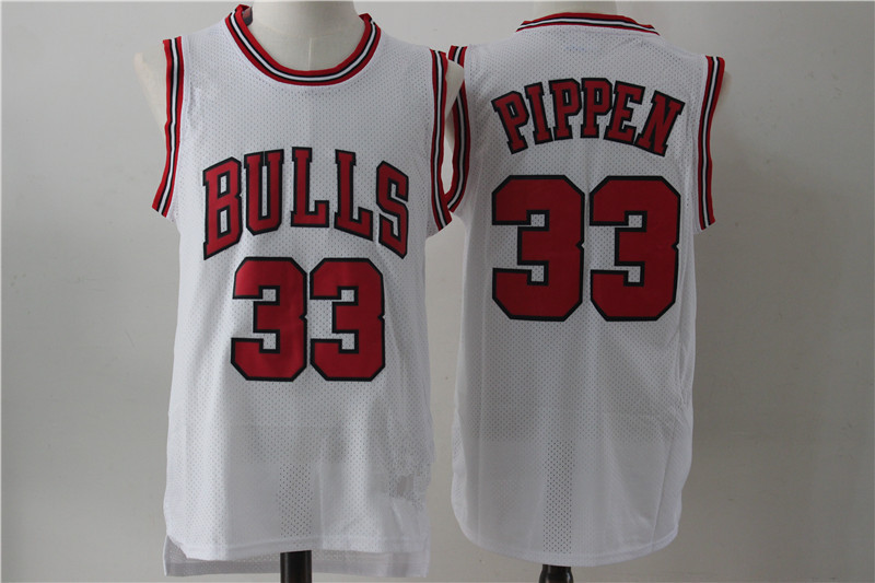 Currently Available Wholesale NBA Jersey 33 # Pippen Basketball Jersey Retro Mesh Embroidered Shirt