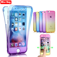 360 full Body Gradient Transparent TPU Case For Huawei P30 P30Pro Lite Fundas Pro P30Lite Two Crystal Cover
