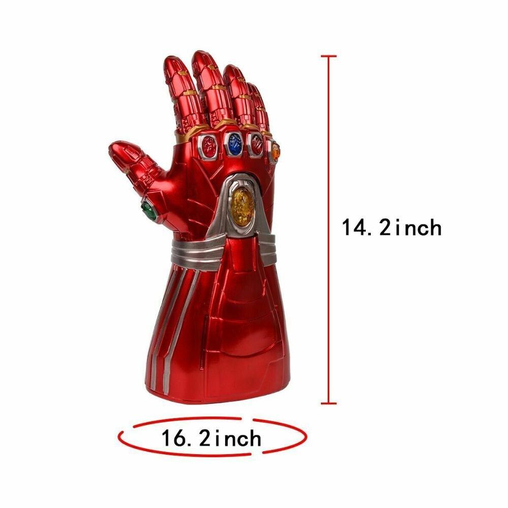 Купить с кэшбэком Iron Man Nano LED Gloves Thanos Gauntlet Endgame Adult Kid Cosplay Prop Costume Accessory Halloween Gift
