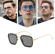 Игрушка Marvel Мстители Железный человек Тони Старк Косплей игрушечные солнечные очки Взрослые солнцезащитные очки Железный Человек очки игрушки