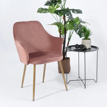 EGGREE Dining Chair Velvet Dressing Chair Kitchen Chairs with Padded Seat and Metal Legs for Dining Room Living Room house bar lift chair dining room living room kitchen stool free shipping retail wholesale black orange color