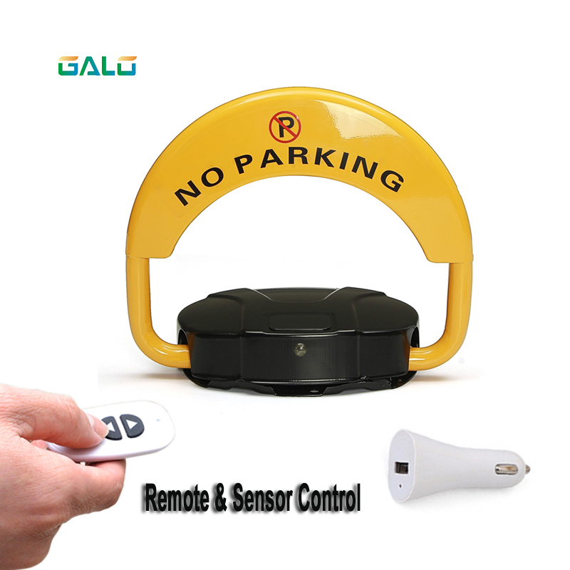 Rechargeable Lithium Battery Car Remote Control Parking Lock Thickened Anti-collision Garage Automatic Induction Waterproof Boom