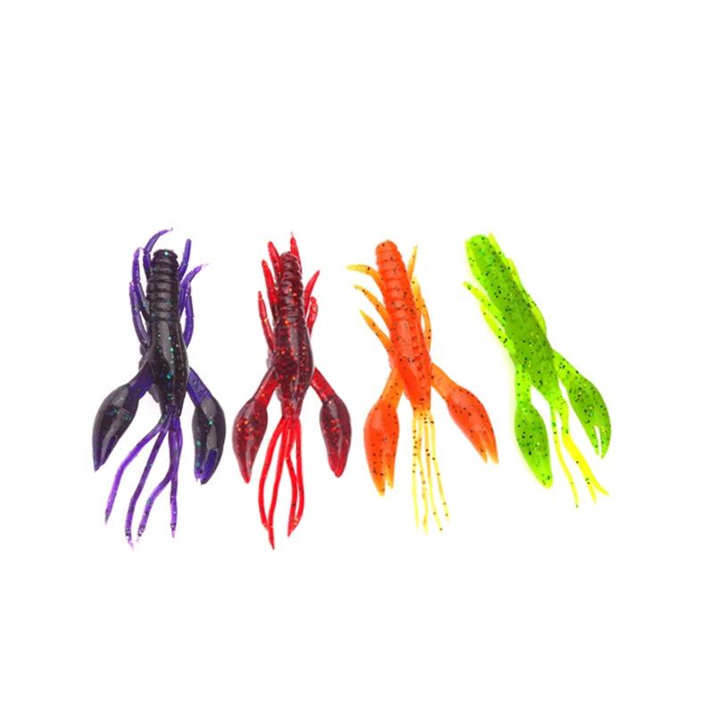 High quality Imitation Soft Bait Shrimp Hammer Shrimp 10 PCs/Bag Lure 4.5 Cm/2.1G Bait Soft Shrimp Floodlights     - title=