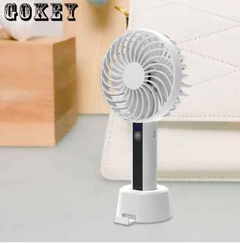 цена на Mini Fan USB Cooler Hand Fan Air Conditioning Handheld Fan USB Desktop Folding Rechargable Mini Fan Portable Mini Ventilador