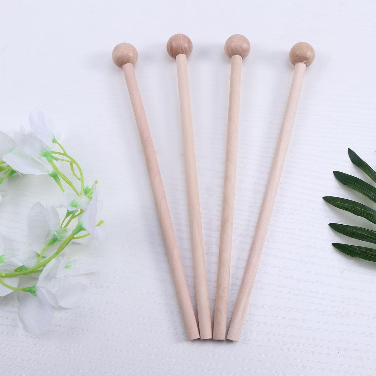 4pcs Drumsticks Wooden Drum Sticks Wood Mallets Percussion Sticks Musical Percussion Instrument Accessories