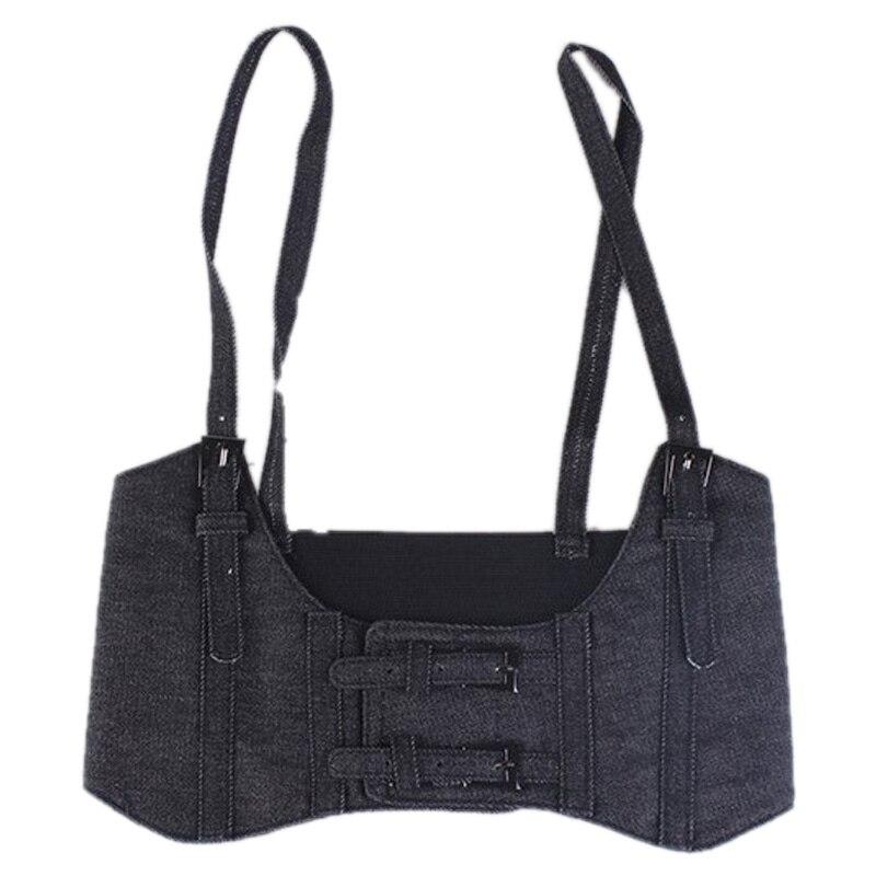 Women'S Sling Super Wide Belt Vest Style Elastic Elastic Strap