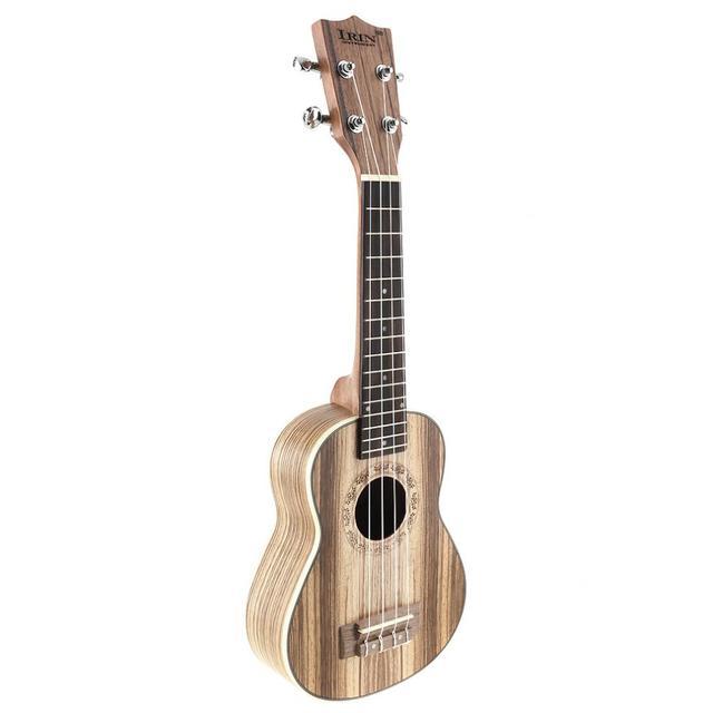 21 Inch Soprano Ukulele Zebra Wood 15 Fret Four  Strings Guitar Ukelele Musical Stringed Instrument