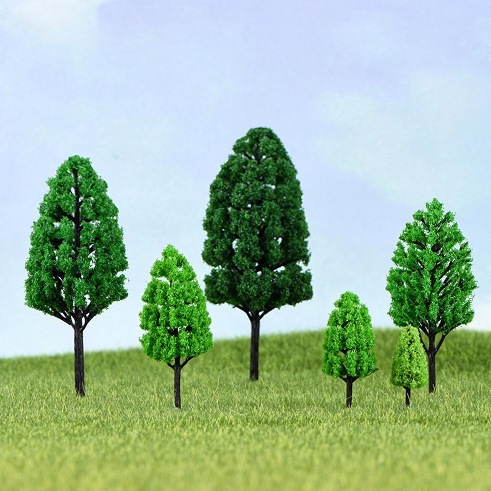 Mini Artificial Plant Tree Model Terrariums Landscaping Sand Table Bonsai Decor