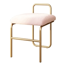 Nordic makeup stool dressing stool modern coffee chair bedroom home backrest simple small stool