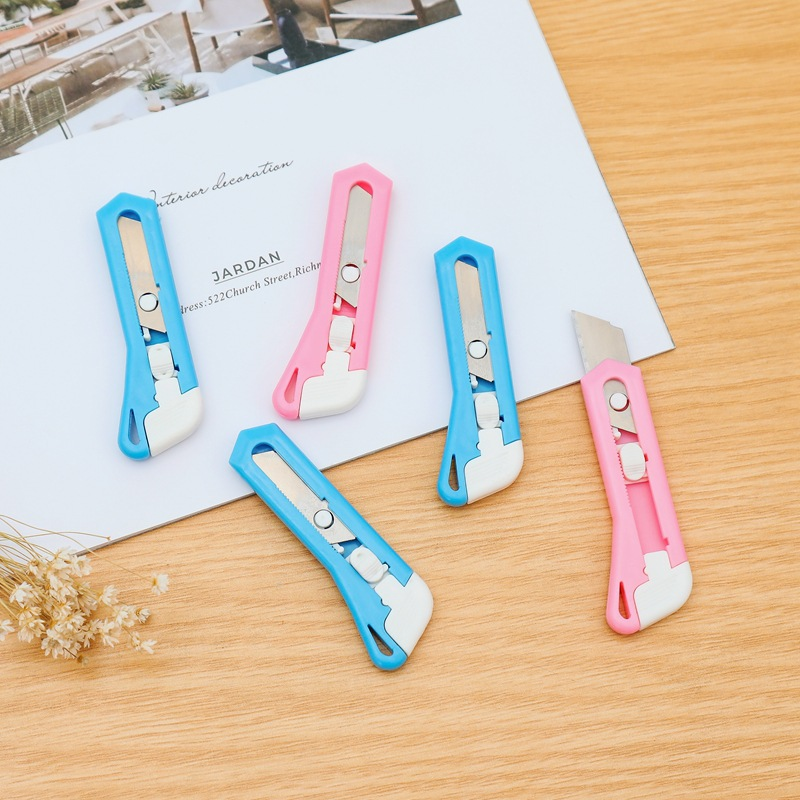 Portable Mini Wallpaper Knife Box-opening Knife Phone Case DIY Tool Students Children Craft Paper Cutter Knife