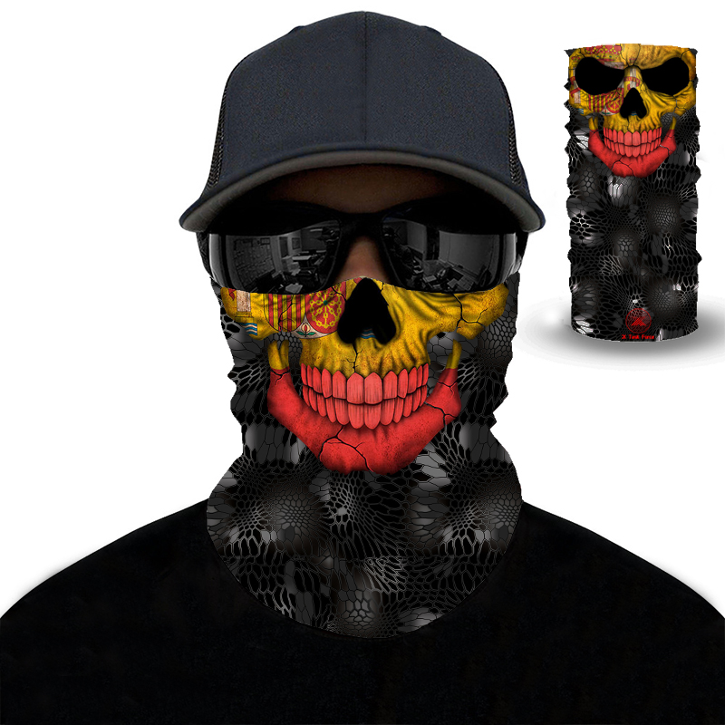 3D Magic Bandana Motorcycle Balaclava Hawk Scarf High Elastic Seamless Bandana Outdoors Magic Scarf Hunting Hiking Ski Headband