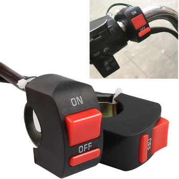 1 sztuka przełączniki motocyklowe złącze Bullet kierownica przełączniki ON OFF przycisk złącze przełącznik wciskany akcesoria motocyklowe tanie i dobre opinie CN (pochodzenie) Motorcycle modification switch 10cm Motorcycle Switches 2 3cm 14cm Plastic Wyłączniki motocyklowe 22-25cm 7 8