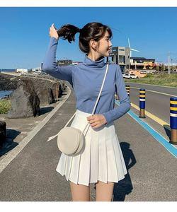 Image 4 - แฟชั่นผู้หญิงกระโปรงสูงเอวกระโปรงจีบสาวหวานน่ารักมินิกระโปรงคอสเพลย์Preppyชุดนักเรียนกระโปรงสั้นXS 3XL