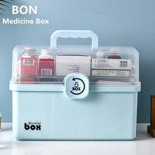 의학 상자 응급 처치 저장 상자 3 레이어 대용량 의료 상자 휴대용 의학 상자 홈 의료 상자 의학 가슴
