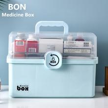 Medicine Box First Aid Storage Box 3 Layers Large Capacity Medical Box Portable Medicine Box Home Medical Box Medicine Chest