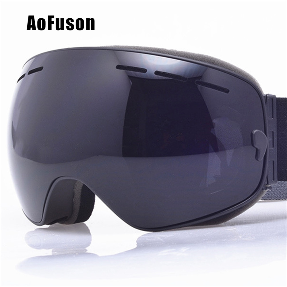 2019 Ski Snowboard Goggles. UV400 Big Spherical Mask Glasses Skiing Men Women Big Vision Profession Snow Ski Eyewear Sci