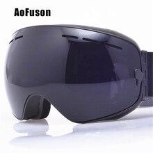 Купить с кэшбэком 2019 Ski Snowboard Goggles. UV400 Big Spherical Mask Glasses Skiing Men Women Big Vision Profession Snow Ski Eyewear Sci