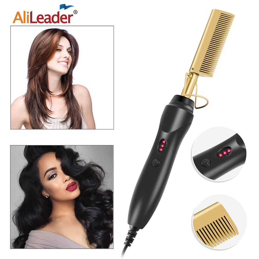 Hot Comb Hair Straightener - Electric Straightening Comb For Hair And Wigs - Technology Hair Straightener For Wet And Dry Hair