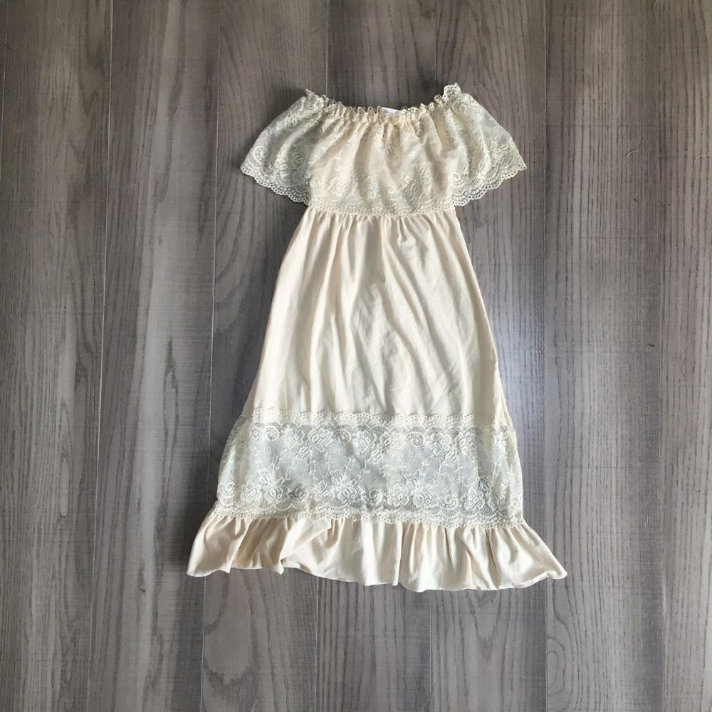 Baby Girls Summer Dress Girls Solid Lace Dress