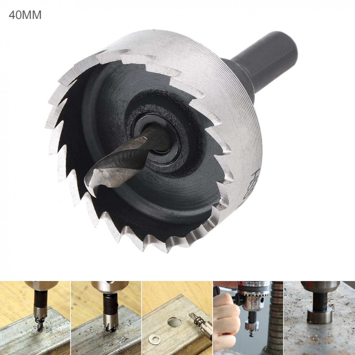 40mm HSS Hole Saw High Speed Steel  Cutter Drill Bits For Pistol Drills / Bench Drills / Magnetic Drills / Air Gun Drills