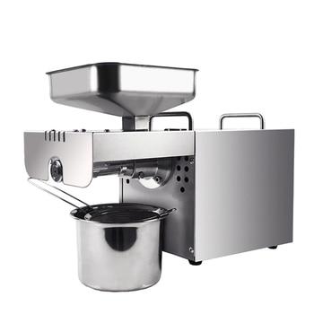 Автоматический пресс для холодного масла из нержавеющей стали, машина для Экстракции Масла для домашнего использования, пресс для масла ed ...