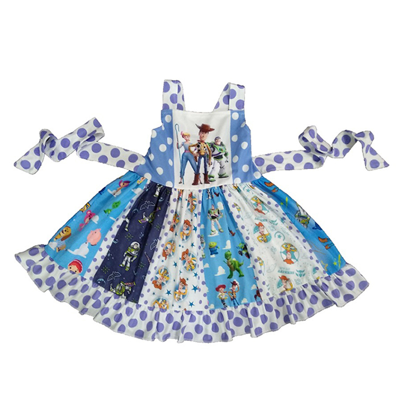 2019 Summer New Baby Girls Dress Fashion Princess Castle Twirl Dresses Childrens Clothes Kids Clothing Boutique 2