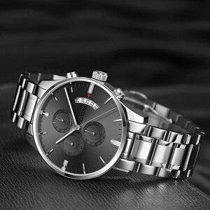 Image 3 - Dom Nieuwe Mode Heren Horloges Topmerk Luxe Grote Wijzerplaat Militaire Quartz Horloge Staal Waterdichte Sport Chronograaf Heren M 1313
