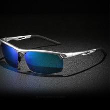 2020 New polarized mens sunglasses aluminum magnesium frame fashion drving sports sunglasses for men