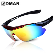 DMAR Cycling Sun Glasses Outdoor Sports Bicycle Men Women Bike Sunglasses 30g Goggles Eyewear 5 Lens