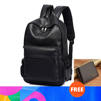 New Fashion Men Backpacks for Teenager Luxury Designer PU Leather Backpacks Male High Quality Travel Backpacks 2020 фото