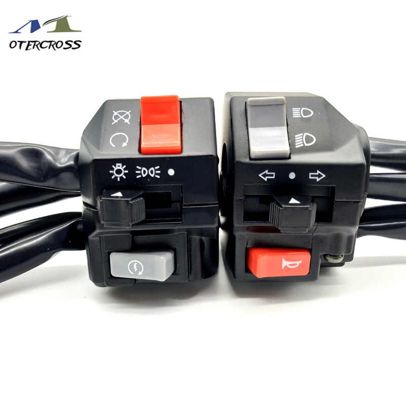 22mm Motorfiets Switches Motor Claxon Turn Signaal Elektrische Fog Lamp Light Start Stuur Controller Schakelaar