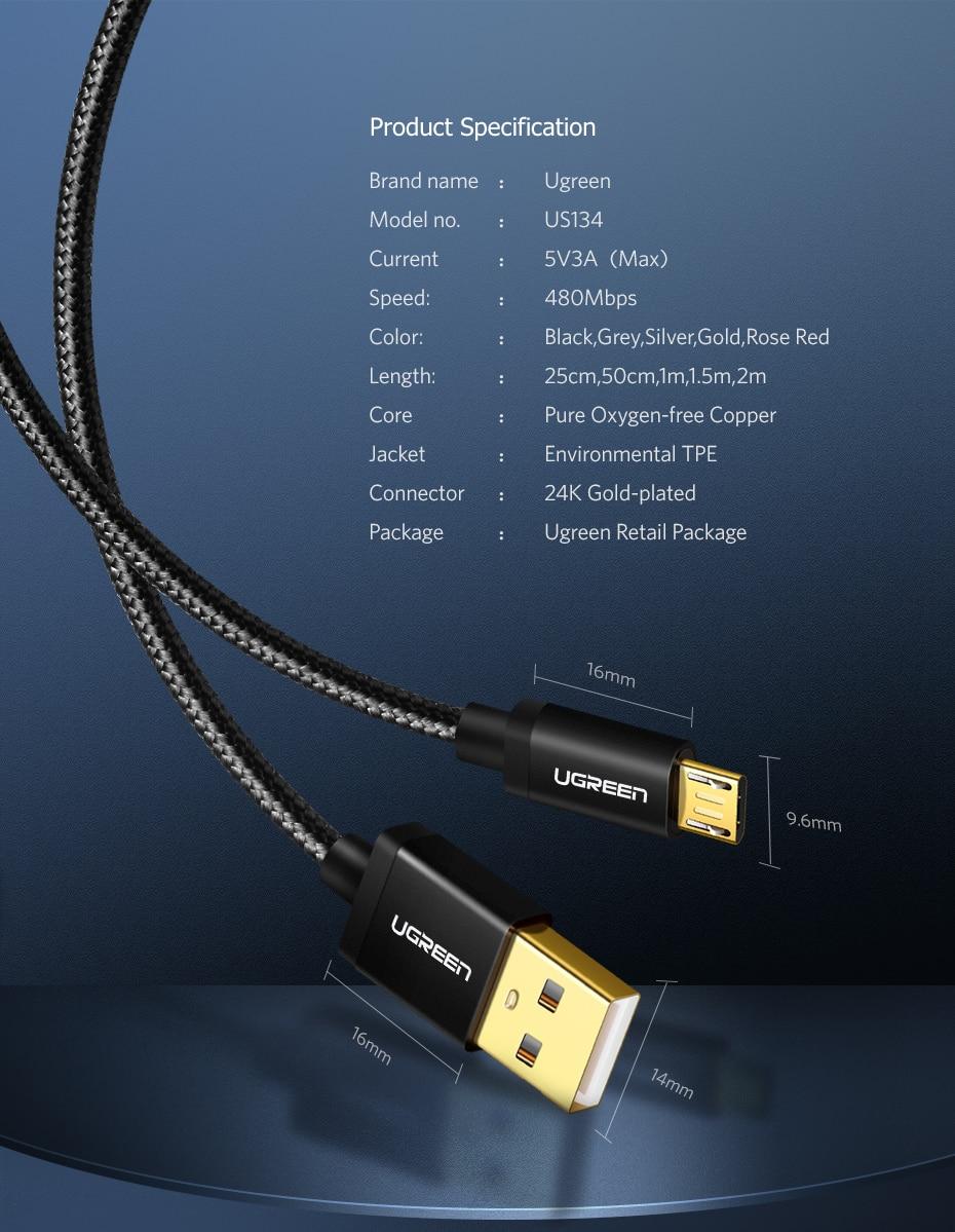 1 Ugreen Pakistan Micro USB Cable brandtech.pk