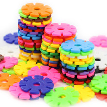 Baby-Game-Toy Blocks Construction-Toys Building Snowflake Interconnecting 3d Puzzle Kindergarten