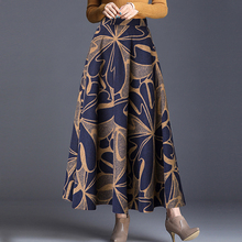 Women Vintage Long Skirt High Waist Maxi Skirt Elegant Pleated Vintage Skirts 2019 New Style Female Skirts long skirts for women цена