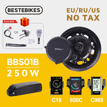 Bafang Motor BBS01B BBS01 Mid Drive Motor 36V 250W Electric Bike Ebike Conversion Kit 36V21AH Lithium Battery Samsung Cell Kits
