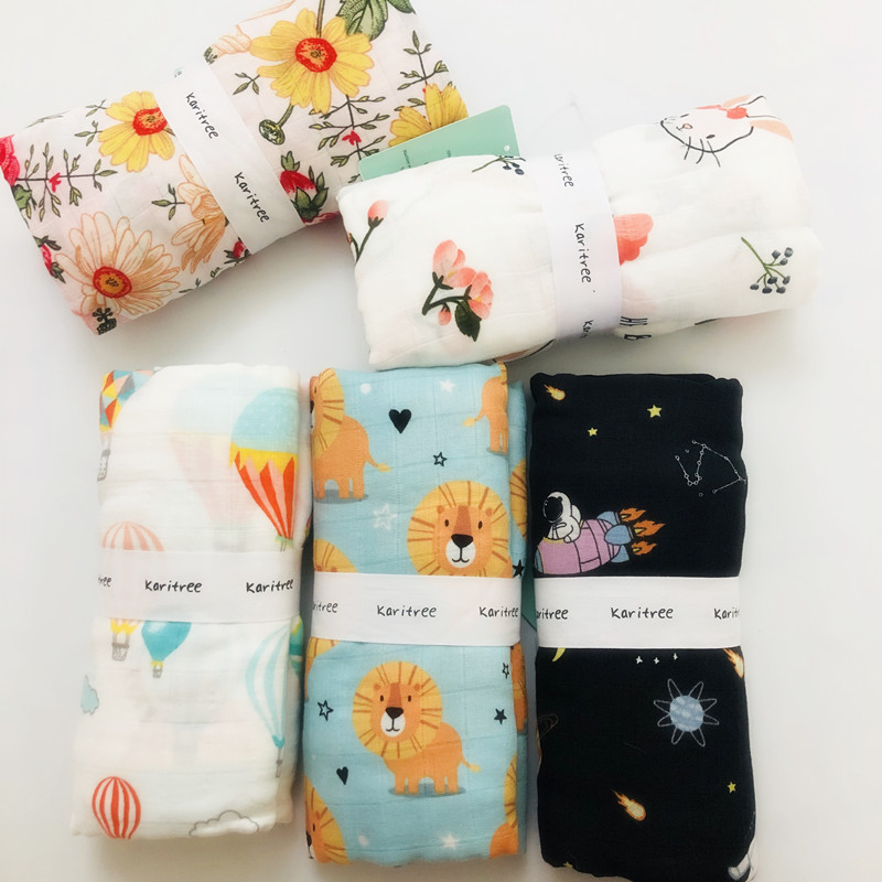 120cm baby swaddle baby muslin blanket quality better than Aden Anais Baby Multi use cotton/bamboo Blanket Infant Wrap