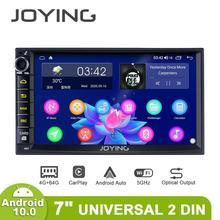 2 Din Xe Ô Tô Đài Phát Thanh Nhạc 7 Inch Đa Năng Đầu Đơn Vị Autoradio 4GB RAM + 64GB Octa Core ROM hỗ Trợ 4G/Carplay/Android Tự Động/Khởi Động Nhanh